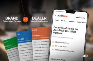 differences between brand and dealer subscription packages on AutoDeal?