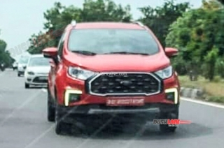 Facelifted Ford EcoSport spotted on Indian roads