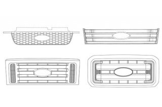 Ford 4 patent grille design