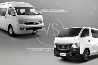 FOTON View Traveller vs Nissan NV350 Urvan Shuttle