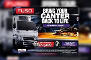 Fuso Canter oil change promo