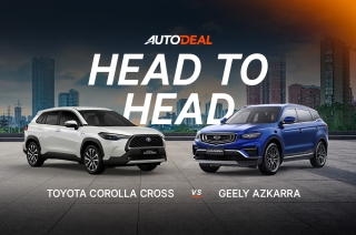 head to head Geely Azkarra vs Toyota Corolla Cross