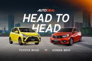 Head to head Honda Brio vs Toyota Wigo