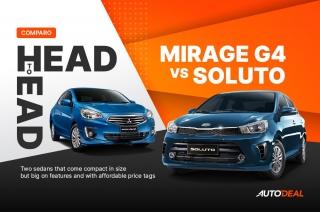 Head to Head: Kia Soluto vs Mitsubishi Mirage G4