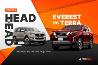 Head to Head Nissan Terra vs Ford Everest 2021