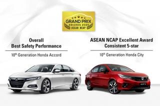 Honda Accord and City ASEAN NCAP safety awards