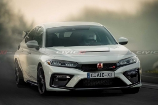 Honda Civic Type R rendered