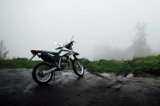 Honda Dirt Bike Foggy Weather