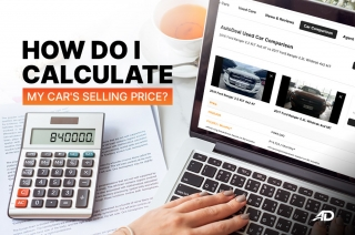 How do I calculate my car's selling price?