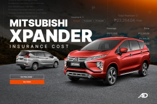 How much does it cost to insure the Mitsubishi Xpander?
