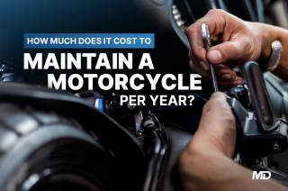 How much does it cost to maintain a motorcycle per year?