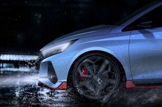 Hyundai i20 N teased revealing its sporty looks