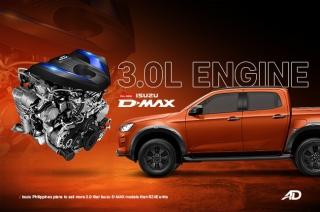Isuzu D-MAX 3.0-liter engine