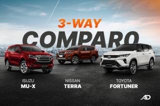 Isuzu mu-X vs Nissan Terra vs Toyota Fortuner: 3-way comparo