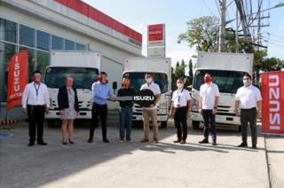 Isuzu Philippines turnover 46 N-Series trucks to First PGMC Enterprises Inc.