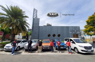 JAC Motors Lends Testdrive units to DSWD