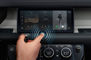 Jaguar and Land Rover contactless touchscreens