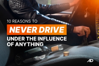 Never drink and drive - 10 reasons
