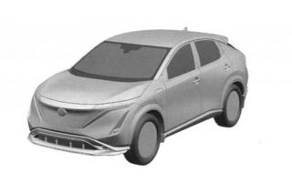 Nissan ariya patent image