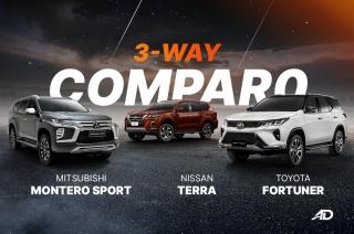 Nissan Terra vs Toyota Fortuner vs Mitsubishi Montero Sport: 3-way comparo