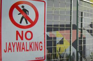 No Jaywalking Sign Philippines