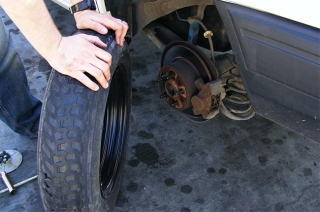replacing tires