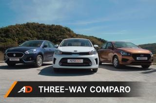 Suzuki Dzire vs Kia Soluto vs Hyundai Reina - AutoDeal Comparo