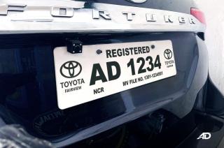 Temporary car plate