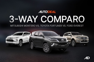 Toyota Fortuner vs Mitsubishi Montero Sport vs Ford Everest