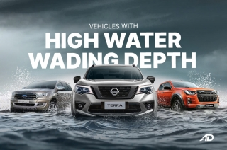 Vehicles with high water wading depth