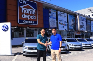 Volkswagen Philippines turned over nine units of Santana to CW Home Depot