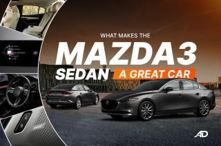 What makes the Mazda3 sedan a great car