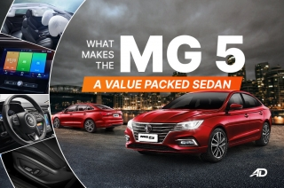 What makes the MG 5 a value-packed sedan