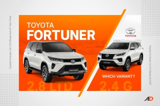 Which 2021 Toyota Fortuner to buy? – Variant Comparison Guide
