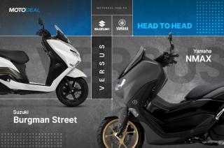 Yamaha NMAX versus Suzuki Burgman Street — Head to head