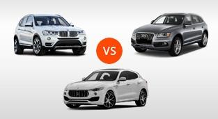 BMW X3 XDrive20d vs. Audi Q5 2.0 TDI Quattro vs. Maserati Levante Diesel 275