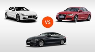 Maserati Ghibli Diesel 3.0L V6 vs. Audi A6 3.0 Quattro TDI vs. BMW 4-Series Gran Coupe 420d