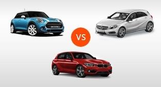 Mercedes-Benz A-Class A 250 Sport 4MATIC vs. BMW 1-Series Hatchback 118i Sport vs. Mini Cooper 1.5L (5Dr)