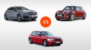 Mercedes-Benz A-Class A 250 Sport 4MATIC vs. BMW 1-Series Hatchback 118i Sport vs. Mini Cooper 1.5 (5-Door) AT