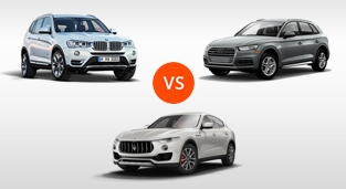 BMW X3 XDrive20d vs. Audi Q5 2.0 TDI Design vs. Maserati Levante Diesel 275