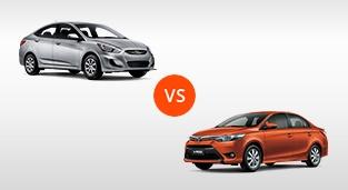 Toyota Vios 1.3 E AT vs. Hyundai Accent Sedan 1.4 GL CVT