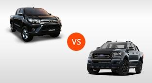 Toyota Hilux 2.4 G DSL 4x2 AT vs. Ford Ranger FX4 2.2 4x2 AT