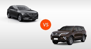 Mazda CX-9 2.5 SkyActiv-Turbo Grand Touring AWD vs. Toyota Fortuner 2.8 V Diesel 4x4 AT