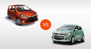 Toyota Wigo 1.0 G AT vs. Chevrolet Spark 1.4L LTZ CVT