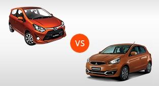 Toyota Wigo 1.0 G AT vs. Mitsubishi Mirage GLX CVT