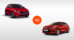 Mazda 2 Hatchback 1.5 SkyActiv V+ AT vs. Kia Rio Hatchback 1.4 GL AT