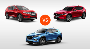 Nissan X-Trail 2.0 4x2 vs. Hyundai Tucson 2.0 CRDi GLS 4x2 AT vs. Mazda CX-5 2.0 FWD Pro