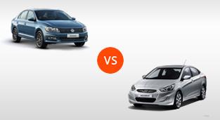 Hyundai Accent Sedan 1.4 GL MT vs. Volkswagen Santana 1.4 MPI Trendline MT