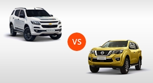 Chevrolet Trailblazer 2.8 AT 4x4 Z71 vs. Nissan Terra 2.5 4x4 VL AT