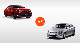 Hyundai Accent Sedan 1.4 GL CVT vs. Toyota Vios 1.3 E CVT